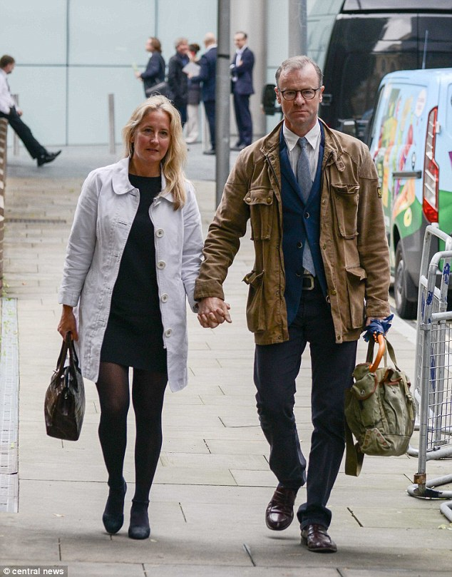 Mrs Simpson, of Winchester, Hampshire, (pictured with her husband) admitted a single charge of professional misconduct
